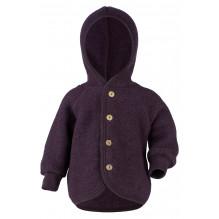 Engel jakke i uldfleece - Purple Melange