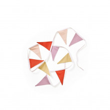 Kid's Concept flagvimpel -  beige/rød
