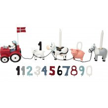 Kids by Friis fødselsdagstog m. bondegård , 11 tal