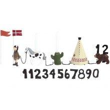 Kids by Friis - Fødselsdagstog m. indianerpige, 11 tal