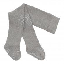GoBabyGo strømpebukser bomuld - Grey Melange