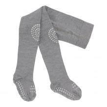 GoBabyGo strømpebukser uld - Grey Melange