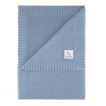 Vanilla Copenhagen strikket tæppe 70x100 cm - Blue Shadow