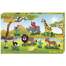 Hama Midi perler gaveæske - safari
