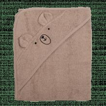 Tiny Republic håndklæde m. hætte, Charlie 100 x 100 cm – Sand