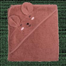 Tiny Republic håndklæde m. hætte, Ella 100 x 100 cm – Plum