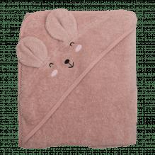 Tiny Republic håndklæde m. hætte, Ella 100 x 100 cm – Rosa