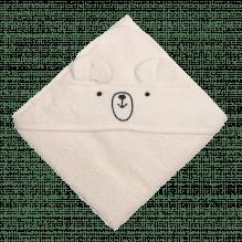 Tiny Republic håndklæde m. hætte, Charlie 70 x 70 cm – Offwhite