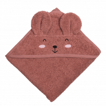 Tiny Republic håndklæde m. hætte, Ella 70 x 70 cm - Plum