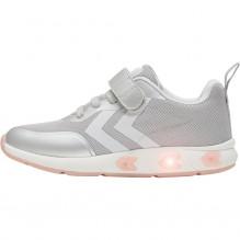 Hummel Flash Run JR blinke sneakers - Sølv