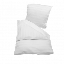 Soft Nordic jacquardvævet baby sengetøj 70x100 cm. – Hvid