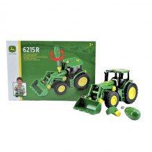 Klein John Deere traktor m/frontlæsser - Grøn