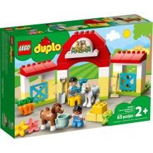 LEGO DUPLO hestestald og ponypasning - 10951