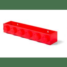 LEGO opbevaringshylde - Bright Red