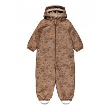Lil' Atelier Lasnow10 softshell dragt m. blomster - Tobacco Brown