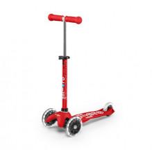 Micro mini deluxe LED løbehjul - rød