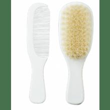 Kam og børste sæt (0+ måneder) - hvid