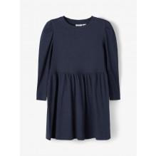 Name It rib kjole - Dark Sapphire