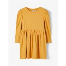 Name It rib kjole - Spruce Yellow