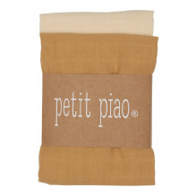 Petit Piao stofbleer 2-pak - Light Mustard/Cream