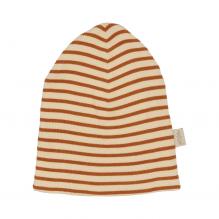 Petit Piao stribet hat - Curry/Cream