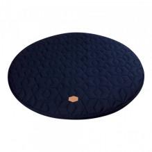 Filibabba Quiltet Legetæppe Ø90 - dark blue