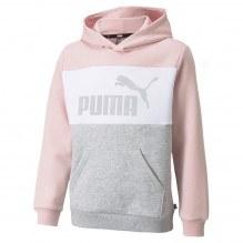 Puma ESS+ Colorblock hættetrøje - Lotus/Silver