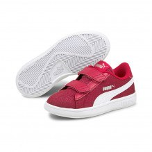 Puma Smash v2 Glitz Glam V sneakers - Persian Red/White