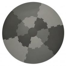 Sebra legegulv Ø120 cm - Elephant Grey