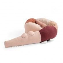 Sebra Sleepy Croc strikket pude - Dreamy Rose