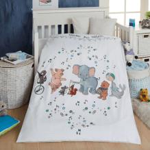 BySkagen Mouse & Pen babysengetøj 70x100 cm. - beige striber