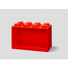 LEGO brick 8 opbevaringshylde - bright red