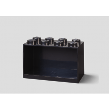 LEGO brick 8 opbevaringshylde - black