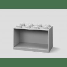 LEGO brick 8 opbevaringshylde - medium stone grey