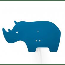 Roommate næsehorn børnelampe - blå