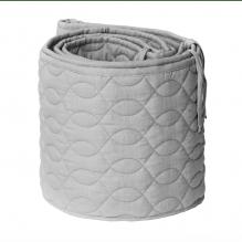 Sebra Quiltet Sengerand - elephant grey