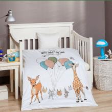 BySkagen Sleep Tight Juniorsengetøj 100x140 cm. - hvid m. print
