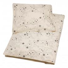 Tiny Republic babysengetøj 70x100, Snow Flake - Almond Oil