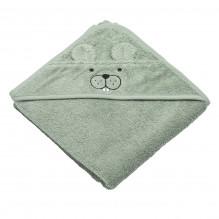 Tiny Republic håndklæde m. hætte, Theo - Lysegrøn