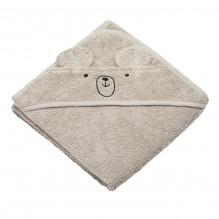 Tiny Republic håndklæde m. hætte, Charlie - Sand