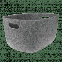 Tiny Republic filtkurv, XL – Lys Grå Melange