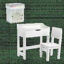 Tiny Republic Play twin tuscher 48 stk + Tiny Republic skrivebord og stol