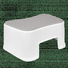 Tiny Republic Basic skammel - Hvid med grå