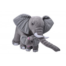 Wild Republic mor og baby elefant bamse 76 cm