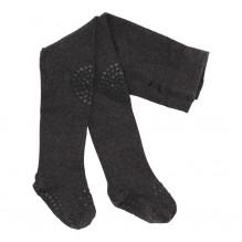 GoBabyGo strømpebukser uld - Dark Grey Melange