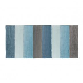 Blå vævet gulvtæppe - Sebra