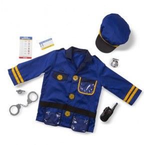 Melissa & Doug Udklædning Politibetjent - Blå