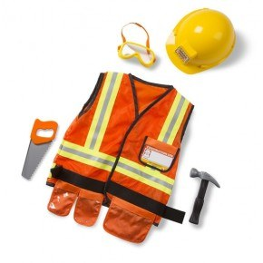 Melissa & Doug Udklædning Byggemand - Orange