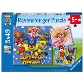 Ravensburger Puslespil, 3 stk. - Paw Patrol Super Pups Heroes!