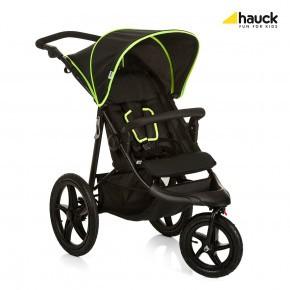 Hauck Runner - Black/Neon Yellow Klapvogn